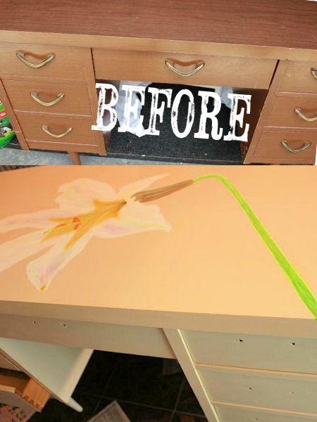 B & A flower desk