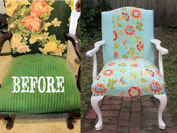 B & A flower living room chair