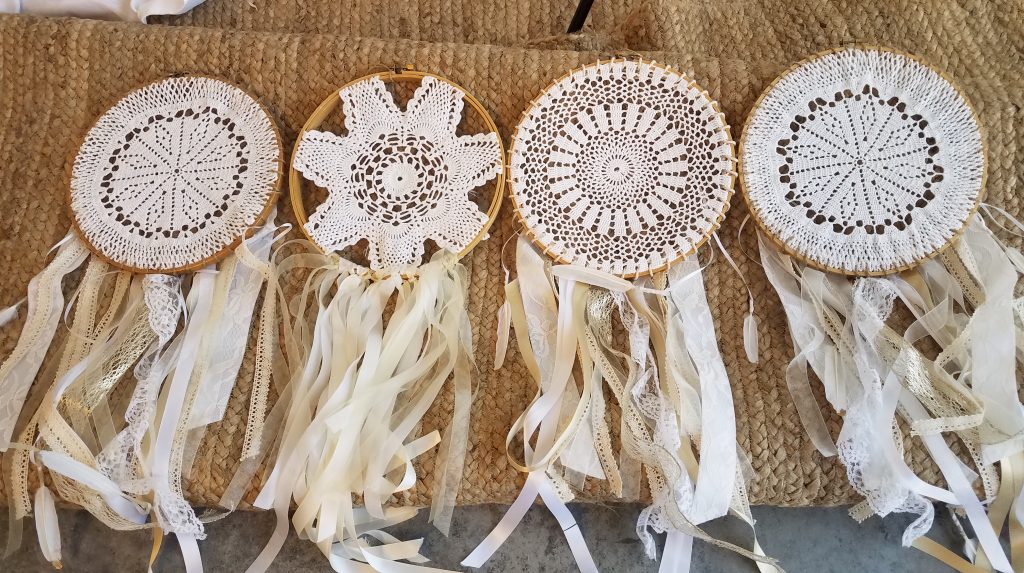 Doily lace dreamcatcher