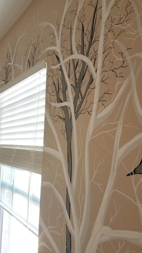 Handpainted tree mural by Create Again