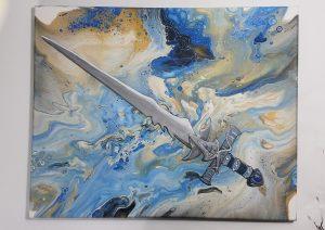 Power spell create again fluid painting